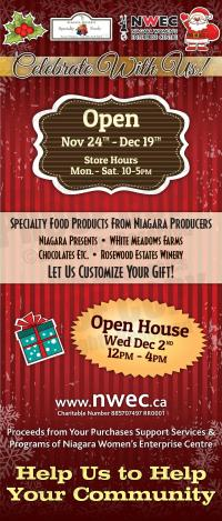Niagara Women's Enterprise Centre's 3rd Annual Holiday Pop Up Shop