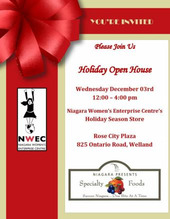 Niagara Women's Enterprise Centre's Holiday Open House